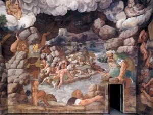 View of the Sala dei Giganti (west wall) 1532-34Fresco Palazzo del Te, Mantua