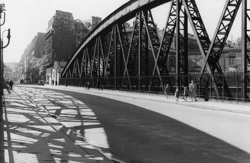 Black and white photo, circa 1955