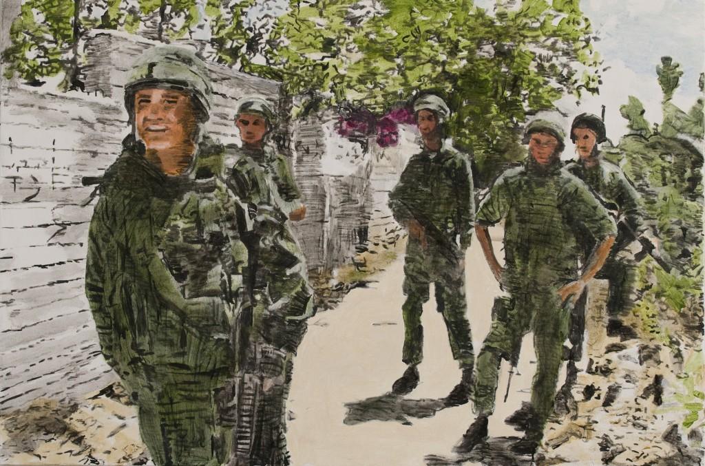 בוגנוויליה, אקריליק על בד Bougainvillea, acrylic on canvas - 100x150 ,2009