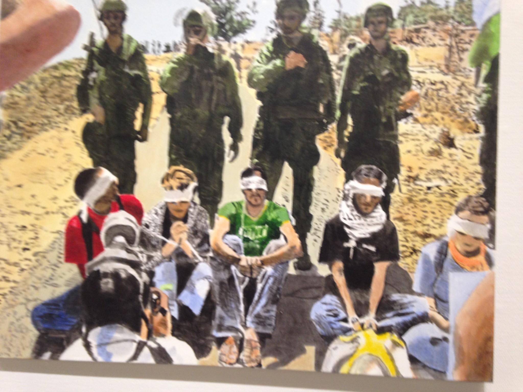 ציור פייסבוק, אקריליק על בד Facebook Painting, acrylic on canvas - 100x133 ,2010