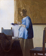 Johannes Vermeer, Woman reading a letter,1662-1663