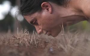 הילה בן ארי, תנועה בין קווים שבורים - מחווה להדה אורן, 2017, פרט ממיצב וידיאו. צלם אסף סבן