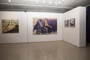 מבט בתערוכה עם עבודתו של חאדר ואשח