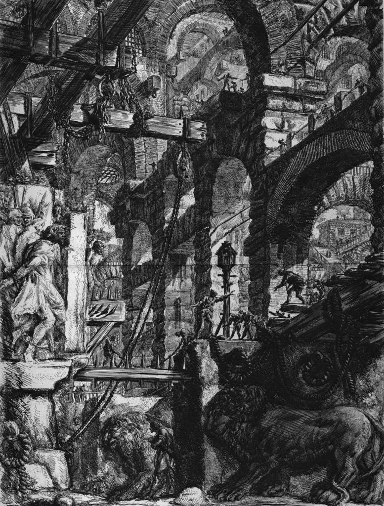 פיראנזי, מהסדרה בתי הכלא של הדמיון , 1761 בקירוב- Venezia, Fondazione Giorgio Cini, Matteo De Fina