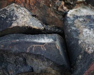 גסטון צבי איצקוביץ, חרותות סלע, 2017, הזרקת דיו פיגמנטי, 72'60 סמ