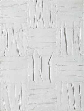 Piero Manzoni 1933–1963, Italy Achrome, ca. 1959 Squared, wrinkled canvas and kaolin, 100×75