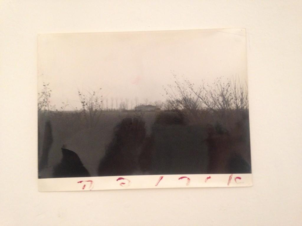 Moshe Gershuni Europe, 1980 glass paint on photograph 18x24 cm