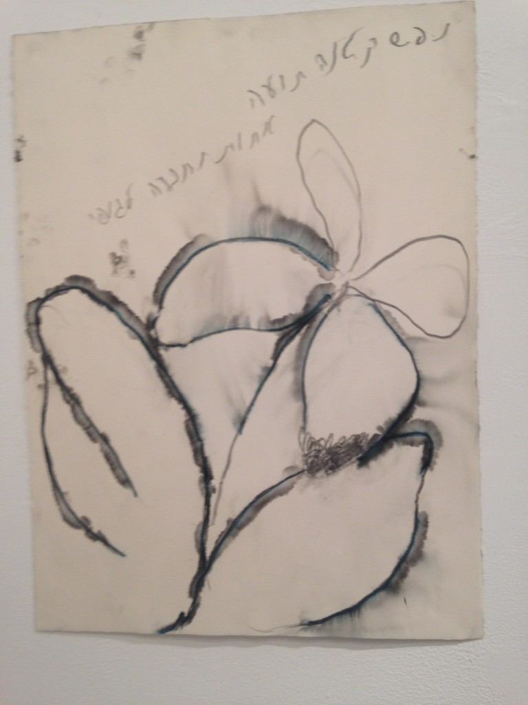 Moshe Gershuni ,Little Soul, 2005 watercolor pencils on paper,76x56cm