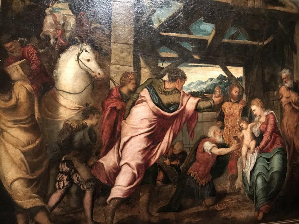 Tintoret L'Adoration des mages vers 1537-1538 huile sur toile 174 x 203 cm Madrid, Museo Nacional del Prado
