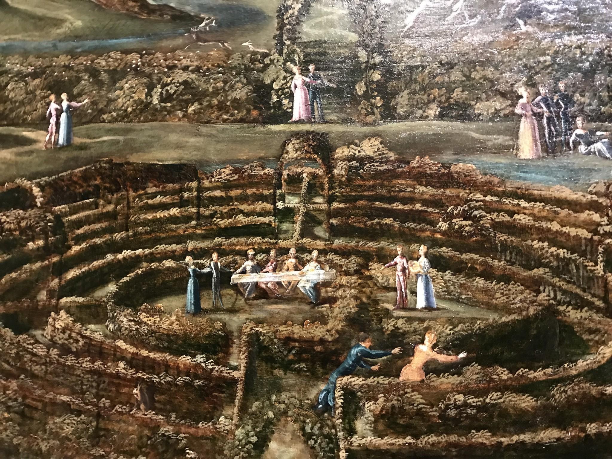 Tintoret et atelier Labyrinthe de l'amour (Allégorie de la vie humaine) commencé en 1538, achevé vers 1552 huile sur toile 147,4 x 200 cm Londres, The Royal Collection, HM Queen Elizabeth II