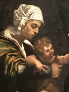 Tintoret Sainte Conversation Molin 1540 huile sur toile 171,5 x 243,8 cm collection particulière
