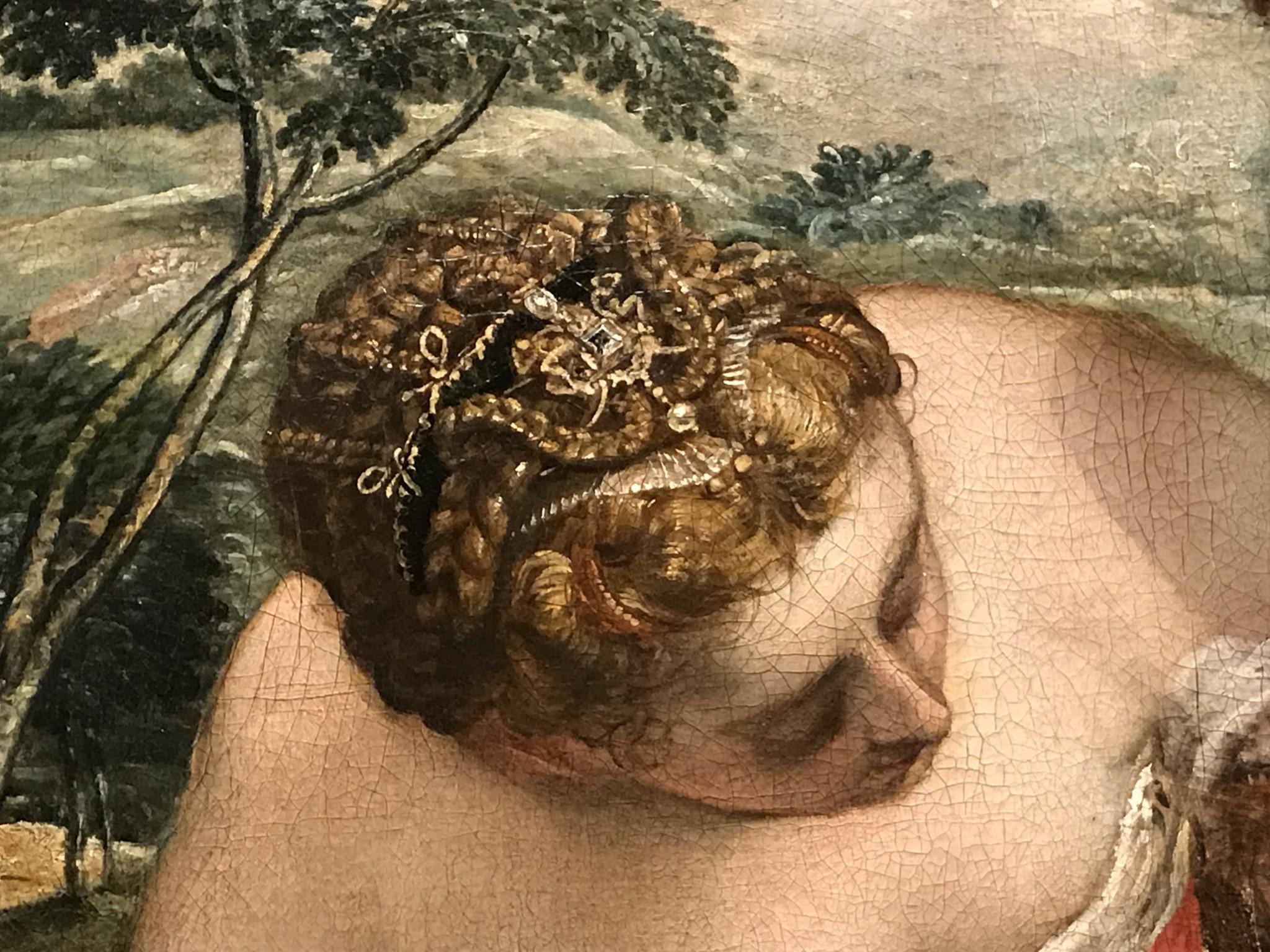 Peintre nordique travaillant à Venise dans l'atelier de Tintoret La Mort d'Adonis vers 1550-1555 (1552-1553 ?) huile sur bois 155 x 199 cm Paris, Musée du Louvre Département des Peintures (detail)