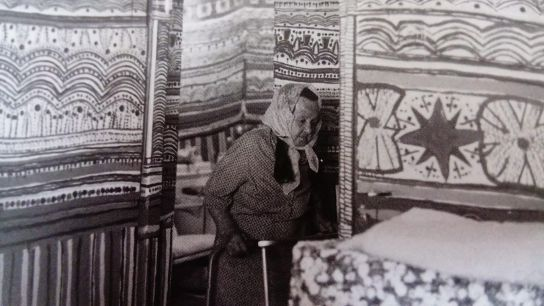Afia Zecharia, in her painted home in Shlomi